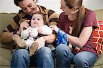 Couple with their baby Stock Photo - Premium Royalty-Free, Artist: CulturaRM, Code: 6114-06606265