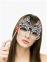 Woman with eye mask Stock Photo - Premium Royalty-Freenull, Code: 6114-06606334