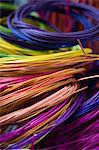 Colourful cane for basketry Stock Photo - Premium Royalty-Freenull, Code: 6114-06606354