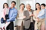 Three generation family Stock Photo - Premium Royalty-Free, Artist: Blend Images, Code: 6114-06606379