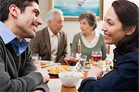 Couples at dinner Stock Photo - Premium Royalty-Freenull, Code: 6114-06606381