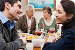 Couples at dinner Stock Photo - Premium Royalty-Free, Artist: ableimages, Code: 6114-06606381
