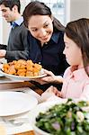 Mother and daughter at dinner Stock Photo - Premium Royalty-Free, Artist: CulturaRM, Code: 6114-06606384