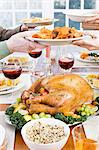 Thanksgiving dinner Stock Photo - Premium Royalty-Free, Artist: Edward Pond, Code: 6114-06606389