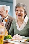 Senior woman at dinner Stock Photo - Premium Royalty-Free, Artist: Westend61, Code: 6114-06606390