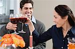 Couple toasting glasses Stock Photo - Premium Royalty-Freenull, Code: 6114-06606403