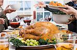 Thanksgiving dinner Stock Photo - Premium Royalty-Freenull, Code: 6114-06606414