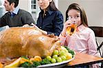 Family at thanksgiving dinner Stock Photo - Premium Royalty-Free, Artist: CulturaRM, Code: 6114-06606427