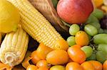 Fruit and vegetables Stock Photo - Premium Royalty-Free, Artist: Blend Images, Code: 6114-06606431