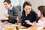 Family having dinner Stock Photo - Premium Royalty-Free, Artist: CulturaRM, Code: 6114-06606439