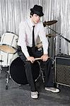 Portrait of a male drummer Stock Photo - Premium Royalty-Free, Artist: Cultura RM, Code: 6114-06606455