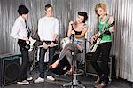 Rock band practising Stock Photo - Premium Royalty-Free, Artist: Blend Images, Code: 6114-06606474