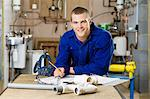 Apprentice plumber Stock Photo - Premium Royalty-Free, Artist: CulturaRM, Code: 6114-06606503