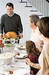 Thanksgiving dinner Stock Photo - Premium Royalty-Free, Artist: Westend61, Code: 6114-06606638