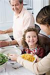 Family meal Stock Photo - Premium Royalty-Free, Artist: Blend Images, Code: 6114-06606640