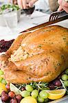Person carving turkey Stock Photo - Premium Royalty-Freenull, Code: 6114-06606662