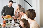 Thanksgiving dinner Stock Photo - Premium Royalty-Free, Artist: Westend61, Code: 6114-06606679