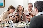 Family having wine Stock Photo - Premium Royalty-Freenull, Code: 6114-06606683