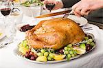 Person carving turkey Stock Photo - Premium Royalty-Free, Artist: CulturaRM, Code: 6114-06606690