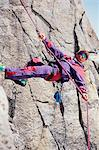 A climber abseiling down a rock Stock Photo - Premium Royalty-Free, Artist: CulturaRM, Code: 6114-06606843