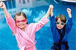 Children wearing goggles Stock Photo - Premium Royalty-Free, Artist: Cultura RM, Code: 6114-06607014