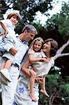 Happy family portrait Stock Photo - Premium Royalty-Free, Artist: Blend Images, Code: 6114-06607039