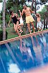 Family by the pool Stock Photo - Premium Royalty-Free, Artist: Blend Images, Code: 6114-06607049