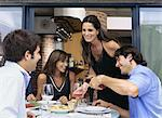 Dinner with friends Stock Photo - Premium Royalty-Free, Artist: RelaXimages, Code: 6114-06607571