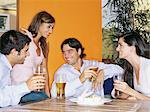 Friends having a beer Stock Photo - Premium Royalty-Free, Artist: Tim Mantoani, Code: 6114-06607596