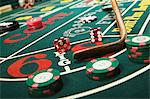Croupier stick clearing craps table Stock Photo - Premium Royalty-Free, Artist: photo division, Code: 6114-06607821