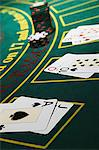 Blackjack table Stock Photo - Premium Royalty-Free, Artist: Edward Pond, Code: 6114-06607840