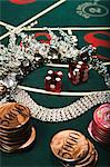 Necklace on a craps table Stock Photo - Premium Royalty-Free, Artist: Robert Harding Images, Code: 6114-06607846