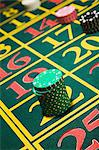 Chips on a roulette table Stock Photo - Premium Royalty-Free, Artist: Aflo Relax, Code: 6114-06607854