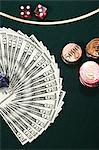 Money dice and gambling chips Stock Photo - Premium Royalty-Free, Artist: Cultura RM, Code: 6114-06607856