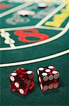 Dice on a craps table Stock Photo - Premium Royalty-Free, Artist: photo division, Code: 6114-06607858