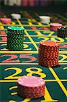 Chips on a roulette table Stock Photo - Premium Royalty-Free, Artist: Robert Harding Images, Code: 6114-06607862