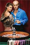 Man and woman at roulette table Stock Photo - Premium Royalty-Free, Artist: Aflo Relax, Code: 6114-06607865