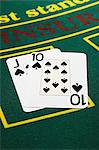 Winning blackjack hand Stock Photo - Premium Royalty-Free, Artist: photo division, Code: 6114-06607866