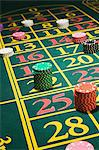 Chips on a roulette table Stock Photo - Premium Royalty-Free, Artist: photo division, Code: 6114-06607869