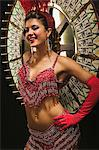 Showgirl by the wheel of fortune Stock Photo - Premium Royalty-Free, Artist: Robert Harding Images, Code: 6114-06607872
