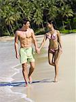 Couple walking on the beach Stock Photo - Premium Royalty-Free, Artist: R. Ian Lloyd, Code: 6114-06608046