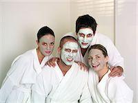 facial - Men and women wearing face masks Stock Photo - Premium Royalty-Freenull, Code: 6114-06608066