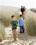 Family on a dune Stock Photo - Premium Royalty-Free, Artist: CulturaRM, Code: 6114-06608390