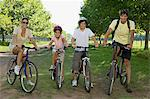 Family on bicycles Stock Photo - Premium Royalty-Free, Artist: CulturaRM, Code: 6114-06608411