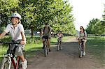 Family cycling Stock Photo - Premium Royalty-Free, Artist: CulturaRM, Code: 6114-06608418