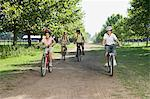 Family mountian biking Stock Photo - Premium Royalty-Free, Artist: CulturaRM, Code: 6114-06608445
