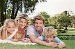 Family in the park Stock Photo - Premium Royalty-Free, Artist: Blend Images, Code: 6114-06608547
