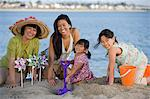 Family on the beach Stock Photo - Premium Royalty-Free, Artist: photo division, Code: 6114-06608564