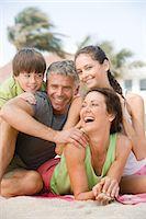 Family on the beach Stock Photo - Premium Royalty-Freenull, Code: 6114-06608667