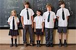 School children in classroom Stock Photo - Premium Royalty-Free, Artist: Blend Images, Code: 6114-06609200